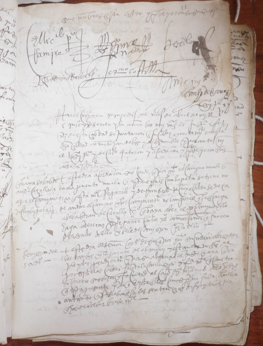 from town council records of cusco  1560s